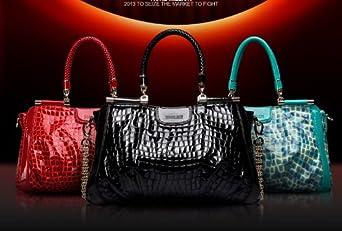 Free Shipping!!2013 Hottest BRAND Crocodile Pattern Chain Zipper Cowhide GENUINE LEATHER Women's Handbag,Ladies' Fashion Bags