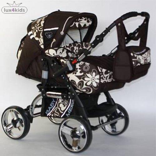 Zwillingskinderwagen mit babyschale  Kombi Kinderwagen 3 in 1: Zwilling Kinderwagen Castor TT Autositz ...
