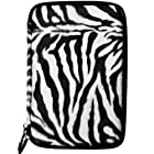 (Black White Zebra) VG Animal Fur Covered Protective Cube Carrying Case for Toshiba Thrive 7-inch Android Tablet PC Computer (16GB 32GB)