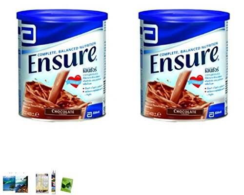 2 Packs Of : Ensure Chocolate Flavor 400G (14.10 Oz) ; Complete Diet That Provides The Nutrients Your Body Needs Vitamins And...