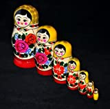 Russian Semenov Nesting Doll Red/Yellow Top