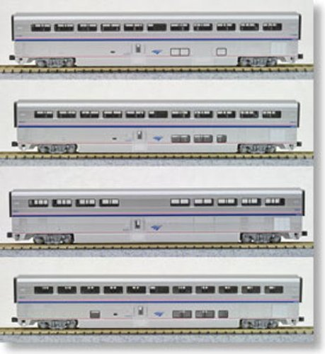 Kato USA Model Train Products Amtrak Superliner Phase IVb Car Set A, 4-Piece