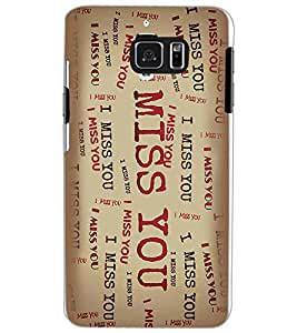 SAMSUNG GALAXY NOTE 5 MISS YOU Back Cover by PRINTSWAG