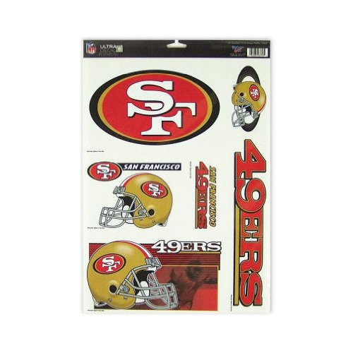 San Francisco 49Ers Official Nfl 11 Inch X 17 Inch Car Window Cling Decal front-940746