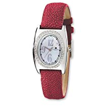 Ladies Charles Hubert Red Stingray 0.75ct. Diamond 29x32mm Watch