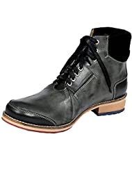 Style Centrum Men's Black Leather Boots - B00L48OM5G