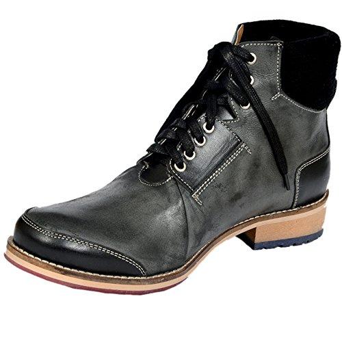 Style Centrum Men's Black Leather Boots - B00L48OM5G
