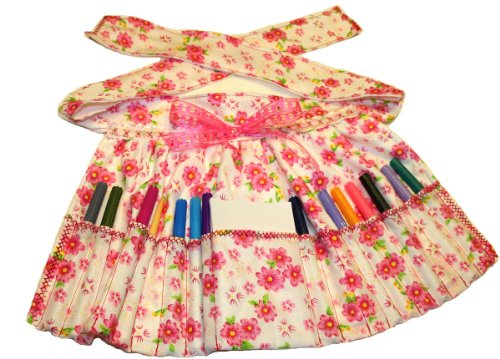 Girls Apron with Washable Markers