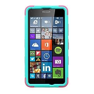 MyBat Phone Case for MICROSOFT Lumia 640 - Retail Packaging - Green/Pink/Teal
