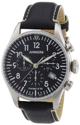Junkers 61802 - Orologio da polso uomo, pelle, colore: nero
