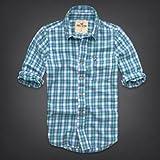 Hollister Co. ホリスター メンズ フランネルシャツ 長袖シャツ ネルシャツ [ホワイトxライム/チェック] 並行輸入品 Lサイズ