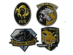 Metal Gear Solid Cosplay Airsoft IRON ON PATCH SET by ONEKOOL