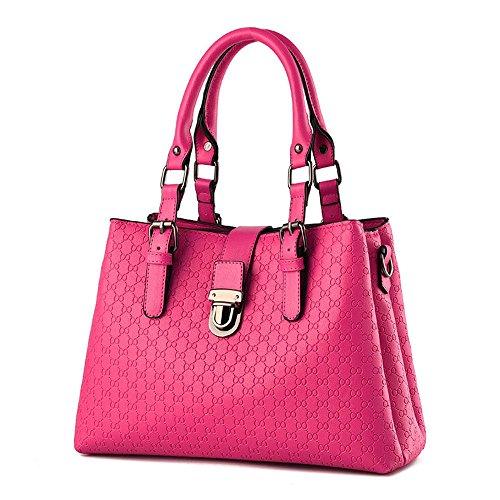 koson-man-damen-sling-vintage-tote-taschen-top-griff-handtasche-pink-rosarot-kmukhb329