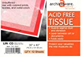 Lineco Museum Quality Acid Free Tissue 30 in. x 40 in. white pack of 12