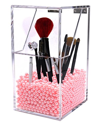 putwo bo te de rangement organisateur maquillage pour pinceaux transparent en acrylique avec des. Black Bedroom Furniture Sets. Home Design Ideas