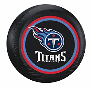 Tennessee Titans Black Tire Cover - Standard Size by Caseys