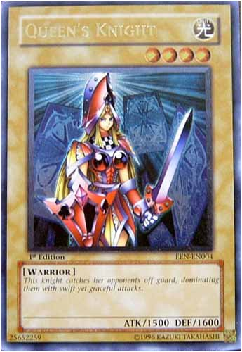 Buy Yu-Gi-Oh Gx Elemental Energy Foil Card Queen's Knight Ultimate Rare Card UEEN-EN004