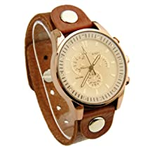 Bamoer Black Friday Christmas Watches Big Promotion (Buy One Watch Get One Free Totally 2) !! High Quality Lovers Watches Women Men's Retro Brown Genuine Leather Belt Charm Bracelet Wristwatch
