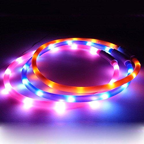 Artikelbild: LED Visio Light Halsband Gurt Leuchtschlauch Leuchthalsband Led Halsband Katzenhalsband Hundehalsband Welpenhalsband Sicherheitshalsband Halsbänder Einstellbar