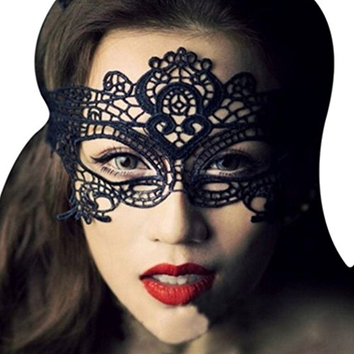 [Sexy Lace Eyes Mask Masquerade Mask for Party Fancy Dress Costumes Black] (Black Lace Masquerade Masks)