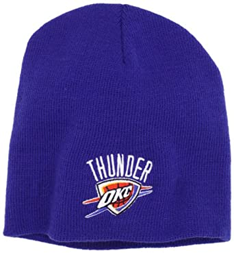 NBA Oklahoma City Thunder, Cuffless Knit Hat, One Size Fits All,Royal