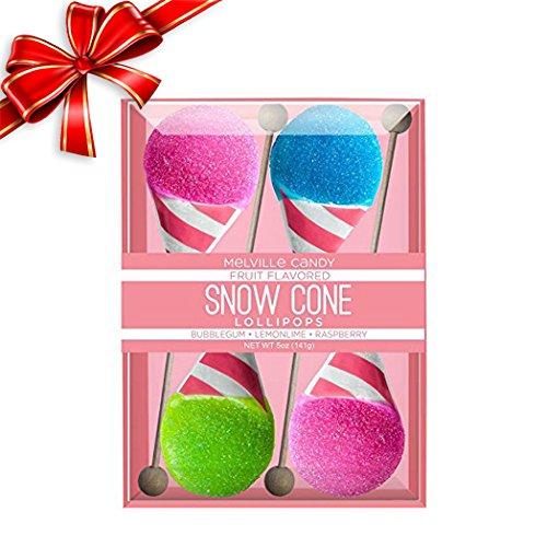 Melville Big Ole Yummy Lollipops Gift Set (Snow Cone Lollipops) (Blue Bubblegum Ice Cream compare prices)