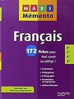 MAXI MEMENTO - Français 6e-5e-4e-3e