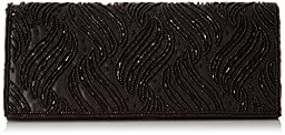 Nina Halton-H Clutch, Black, One Size