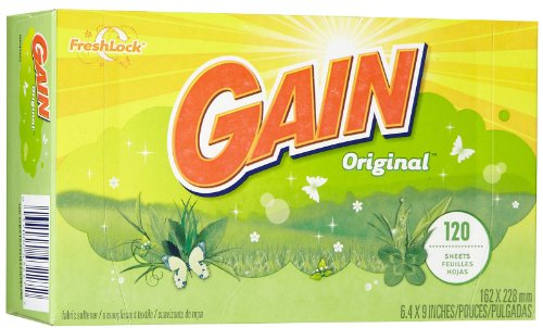 Gain Dryer Sheets - Original Fresh - 120 ct (Gain Fabric Softener Sheets compare prices)