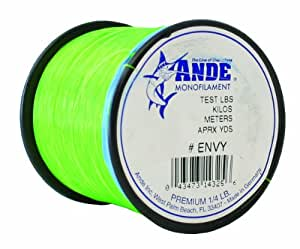 Ande premium monofilament line with 80 pound for Fishing line test