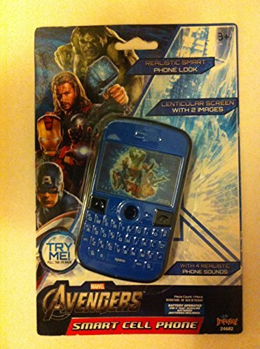 Marvel Kids The Avengers Smart Cell Phone with Lenticular Screen and Realistic Sounds, batteries included - 1