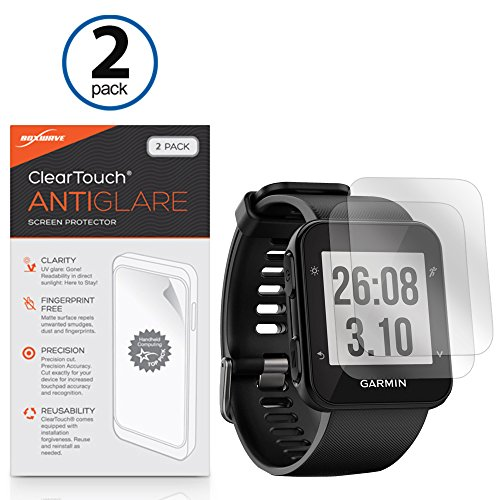 Garmin Forerunner 35 Screen Protector, BoxWave [ClearTouch Anti-Glare (2-Pack)] Anti-Fingerprint Matte Film Skin for Garmin Forerunner 35 (2 35 Screen compare prices)