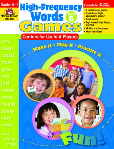 High-Frequency Words: Center Games For Up To 6 Players, Level B