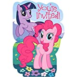 Amscan My Little Pony Party Invitations