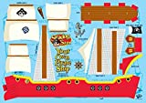 Make Your Own Pirate Ship No Glue Craft Kit for Kids - Seadog Sam Pirate Crafts for Kids