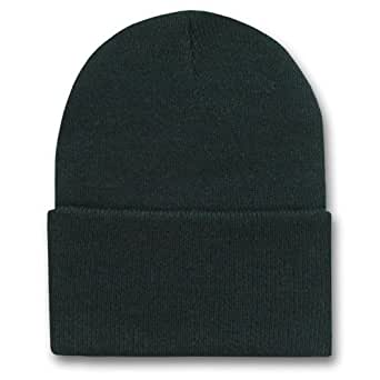 New Solid Winter Long Beanie (Comes In Many Different Colors), Black