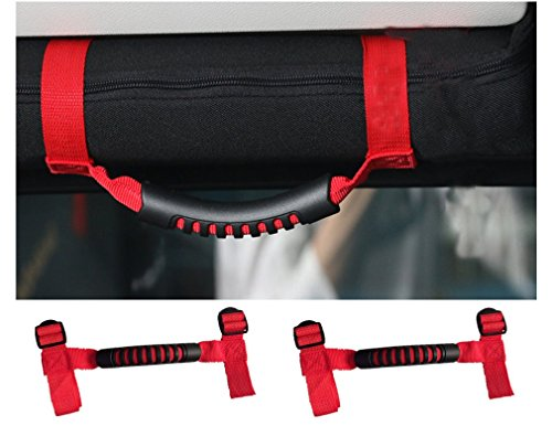 E-cowlboy-Red-2-X-Grab-handle-grips-Grab-bar-Hand-Hold-UTV-roll-cages-for-Polaris-Honda-Yamaha-Kawasaki-UTVs