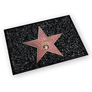 Mat hatter washable hollywood door mat walk of fame for Door mats amazon