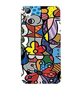 EPICCASE Funky art Mobile Back Case Cover For HTC Desire 728 (Designer Case)