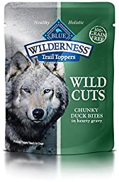 Blue Buffalo Wilderness Trail Toppers Chunky Duck Bites Dog Food, 24 by 3 oz.