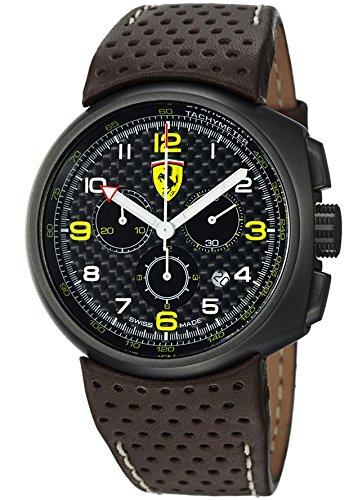 Ferrari F1Classic fe-10-ipg-un-cp-fc 44mm, de acero inoxidable, Color Marrón Novilla Mineral Reloj para hombre