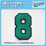 カラフル数字ワッペン(二重枠アイロン番号20cm) ※1~9まで1文字単位でお申込み頂けます