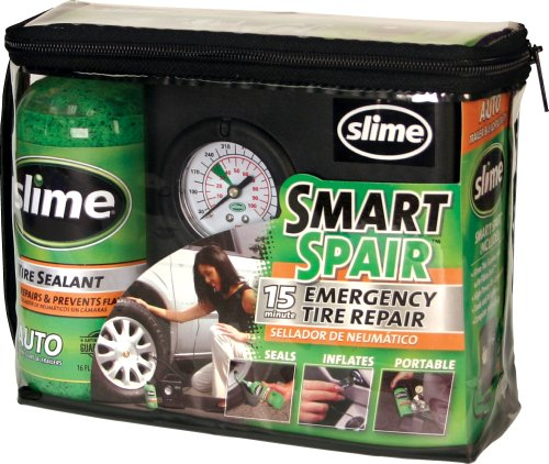 Slime 50033 Smart Spair Emergency Tyre Repair Compressor Kit