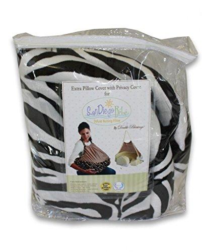 Extra Cover for San Diego Bebe Eco Nursing Pillow, Zebra - 1