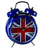 Retro Classic Metal Union Jack Bell Alarm Clock - Great Novelty Alarm Clock Christmas or Birthday Gift / Present