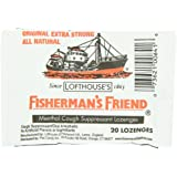 Fisherman's Friend Original Extra Strong Cough Suppressant Lozenges, 20-Count Bags (Pack of 24)