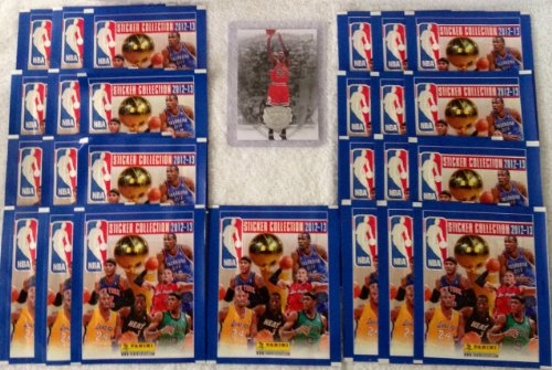 2012 13 Official Panini NBA Sticker Collection 25 Sticker Packets 5 Stickers Per Pack Plus One 1 Randomly Inserted Michael Jordan Upper Deck 2009 Jordan Legacy Card