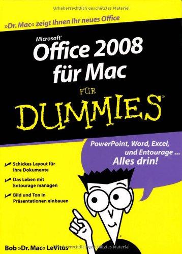 Office 2008 Fr Mac Fr Dummies