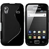 mumbi PowerGrip TPU Schutzh�lle f�r Samsung Galaxy Ace S5830 schwarz