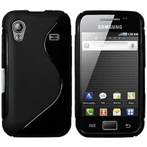 mumbi PowerGrip TPU Schutzhülle für Samsung Galaxy Ace S5830 schwarz